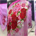 Matching Baby Pink color Jamdani shari Applique Work on Jamdani Shari
