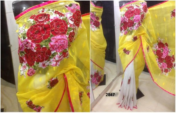 Matching Yellow color Achal and Body