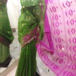 olive & violet All over Work On Jamdani Shari. Beautiful and gorgeous design.