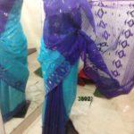 skyblue & blue All over Work On Jamdani Shari. Beautiful and gorgeous design.