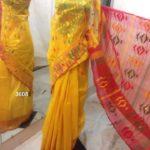 yellow All over Work On Jamdani Shari. Beautiful and gorgeous design.